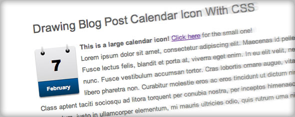 Drawing Calendar Icon With CSS3