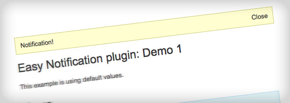 jQuery plugin Easy Notification
